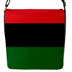 Pan African Unia Flag Colors Red Black Green Horizontal Stripes Flap Messenger Bag (s) by yoursparklingshop