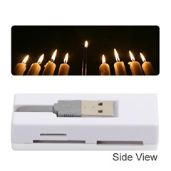 Hanukkah Chanukah Menorah Candles Candlelight Jewish Festival Of Lights Memory Card Reader (stick)  by yoursparklingshop