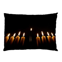 Hanukkah Chanukah Menorah Candles Candlelight Jewish Festival Of Lights Pillow Case (two Sides) by yoursparklingshop