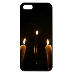 Hanukkah Chanukah Menorah Candles Candlelight Jewish Festival Of Lights Apple Iphone 5 Seamless Case (black) by yoursparklingshop