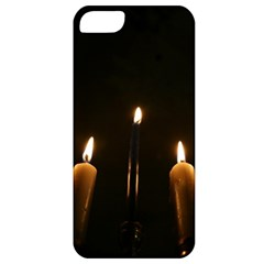 Hanukkah Chanukah Menorah Candles Candlelight Jewish Festival Of Lights Apple Iphone 5 Classic Hardshell Case by yoursparklingshop