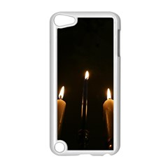 Hanukkah Chanukah Menorah Candles Candlelight Jewish Festival Of Lights Apple Ipod Touch 5 Case (white) by yoursparklingshop