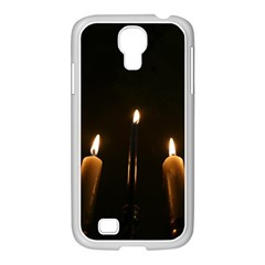 Hanukkah Chanukah Menorah Candles Candlelight Jewish Festival Of Lights Samsung Galaxy S4 I9500/ I9505 Case (white) by yoursparklingshop