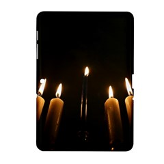 Hanukkah Chanukah Menorah Candles Candlelight Jewish Festival Of Lights Samsung Galaxy Tab 2 (10 1 ) P5100 Hardshell Case  by yoursparklingshop