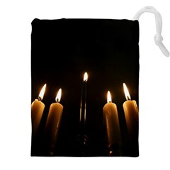 Hanukkah Chanukah Menorah Candles Candlelight Jewish Festival Of Lights Drawstring Pouches (xxl)