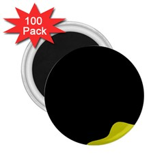 Black And Yellow 2 25  Magnets (100 Pack)  by Valentinaart