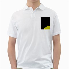 Black And Yellow Golf Shirts by Valentinaart