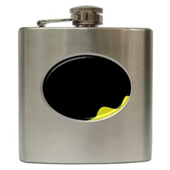 Black And Yellow Hip Flask (6 Oz) by Valentinaart