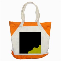 Black And Yellow Accent Tote Bag by Valentinaart