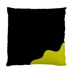 Black And Yellow Standard Cushion Case (one Side) by Valentinaart