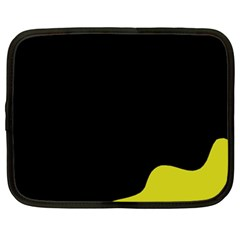 Black And Yellow Netbook Case (xl)  by Valentinaart