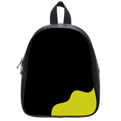 Black And Yellow School Bags (small)  by Valentinaart