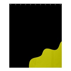 Black And Yellow Shower Curtain 60  X 72  (medium)  by Valentinaart