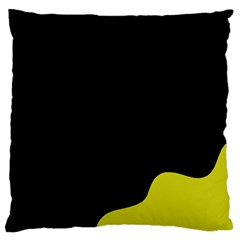 Black And Yellow Large Cushion Case (two Sides) by Valentinaart