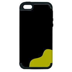 Black And Yellow Apple Iphone 5 Hardshell Case (pc+silicone) by Valentinaart