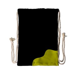 Black And Yellow Drawstring Bag (small) by Valentinaart