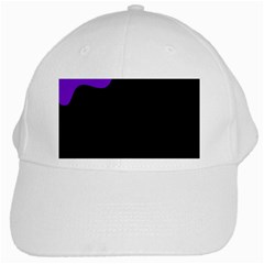Purple And Black White Cap by Valentinaart