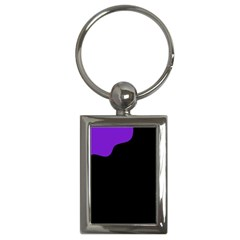 Purple And Black Key Chains (rectangle)  by Valentinaart