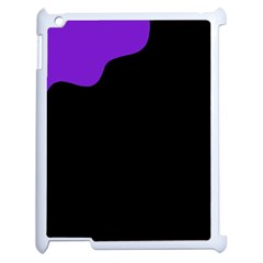 Purple And Black Apple Ipad 2 Case (white)