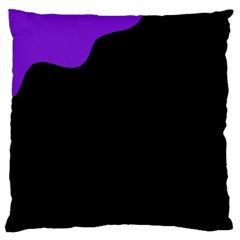 Purple And Black Large Cushion Case (two Sides)