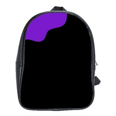 Purple And Black School Bags (xl)