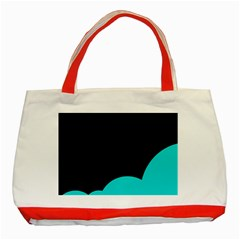 Black And Cyan Classic Tote Bag (red)
