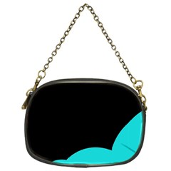 Black And Cyan Chain Purses (one Side)  by Valentinaart