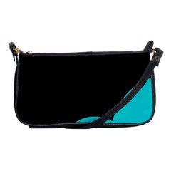 Black And Cyan Shoulder Clutch Bags