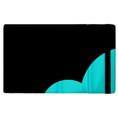 Black And Cyan Apple Ipad 2 Flip Case by Valentinaart
