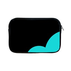 Black And Cyan Apple Ipad Mini Zipper Cases by Valentinaart