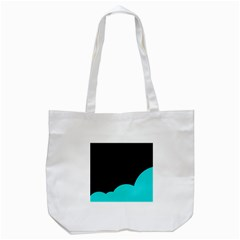 Black And Cyan Tote Bag (white)