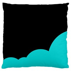 Black And Cyan Standard Flano Cushion Case (one Side) by Valentinaart