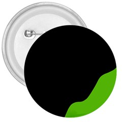 Black And Green 3  Buttons by Valentinaart