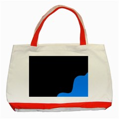 Blue And Black Classic Tote Bag (red) by Valentinaart