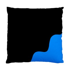 Blue And Black Standard Cushion Case (two Sides) by Valentinaart