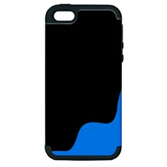 Blue And Black Apple Iphone 5 Hardshell Case (pc+silicone)