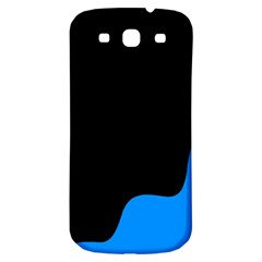 Blue And Black Samsung Galaxy S3 S Iii Classic Hardshell Back Case by Valentinaart