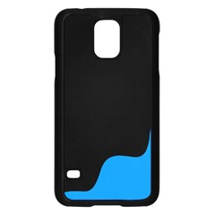 Blue And Black Samsung Galaxy S5 Case (black) by Valentinaart