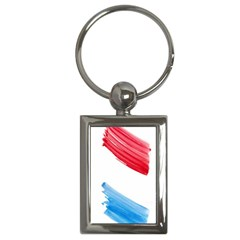 Tricolor Banner Flag, Red White Blue Key Chains (rectangle)  by picsaspassion