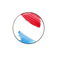 Tricolor Banner Flag, Red White Blue Hat Clip Ball Marker (10 Pack)