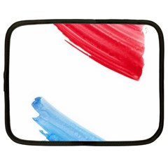 Tricolor Banner Flag, Red White Blue Netbook Case (xxl)  by picsaspassion