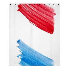Tricolor Banner Flag, Red White Blue Shower Curtain 60  X 72  (medium)  by picsaspassion