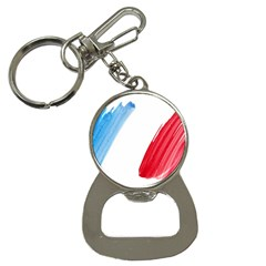 Tricolor Banner Flag France, Blue White Red Watercolor Button Necklaces by picsaspassion