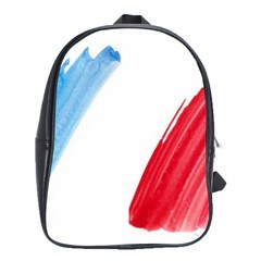 Tricolor Banner Flag France, Blue White Red Watercolor School Bags(large)  by picsaspassion
