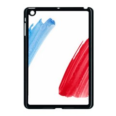 Tricolor Banner Flag France, Blue White Red Watercolor Apple Ipad Mini Case (black) by picsaspassion