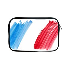 Tricolor Banner Flag France, Blue White Red Watercolor Apple Ipad Mini Zipper Cases