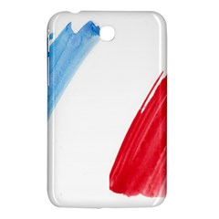 Tricolor Banner Flag France, Blue White Red Watercolor Samsung Galaxy Tab 3 (7 ) P3200 Hardshell Case  by picsaspassion