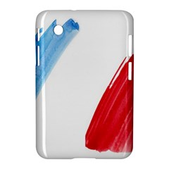 Tricolor Banner Flag France, Blue White Red Watercolor Samsung Galaxy Tab 2 (7 ) P3100 Hardshell Case  by picsaspassion