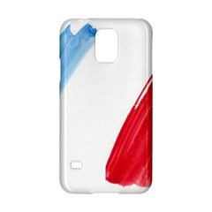Tricolor Banner Flag France, Blue White Red Watercolor Samsung Galaxy S5 Hardshell Case