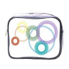 Rainbow Colors Circles Mini Toiletries Bags by picsaspassion